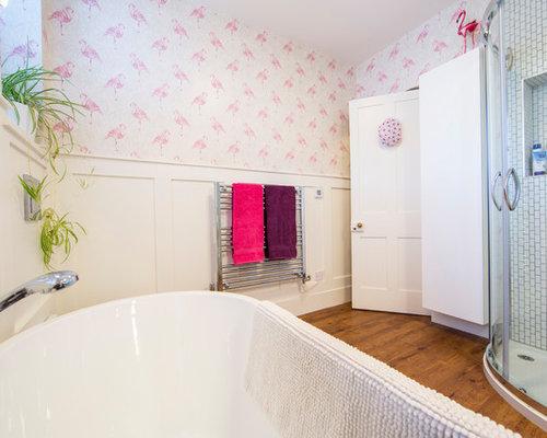 Sala Da Bagno Moderna : Stanza da bagno con piastrelle diamantate cardiff foto idee