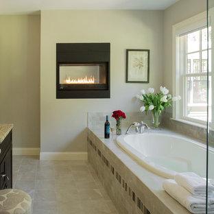 master bathroom fireplace | houzz