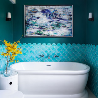 This is an example of an eclectic bathroom in Other.
