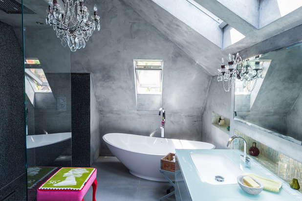 Eclectic Bathroom by Mad Cow Interiors
