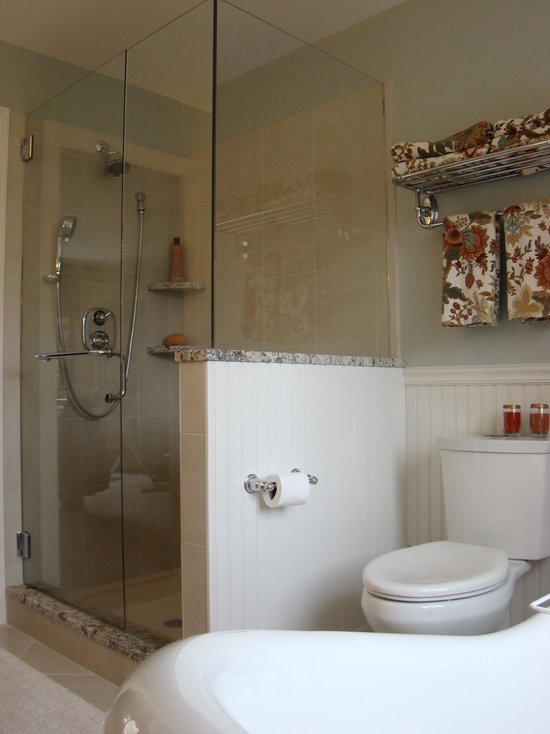 Bathroom Knee Wall shower with knee walls | houzz