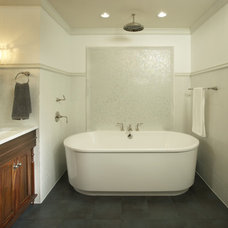 Transitional Bathroom by Martha O'Hara Interiors