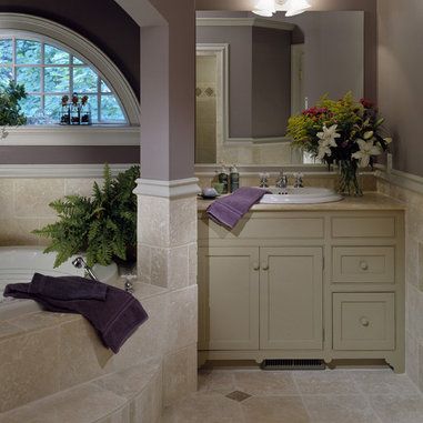 The gallery for benjamin moore classic gray 1548 for Grey and purple bathroom ideas