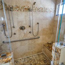Mediterranean Bathroom by Dennis Mayer, Photographer