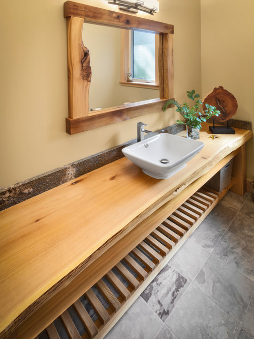 Wood Bathroom Countertops Home Design Ideas Pictures Remodel And Decor