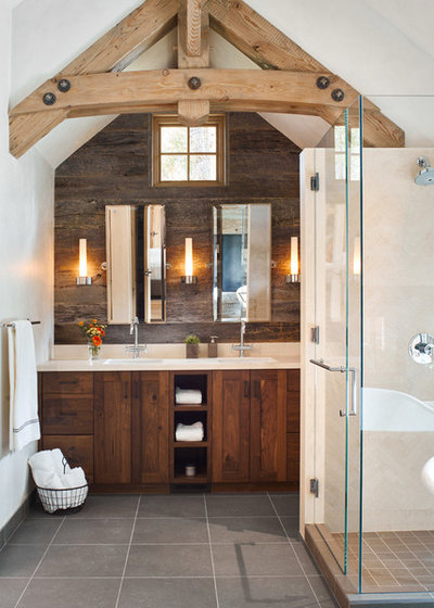 Rustic Bathroom by Structural Associates