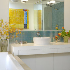 modern bathroom by Works Photography Inc.