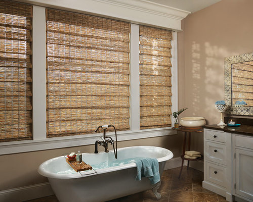 Best Woven Wood Shades Design Ideas & Remodel Pictures | Houzz
