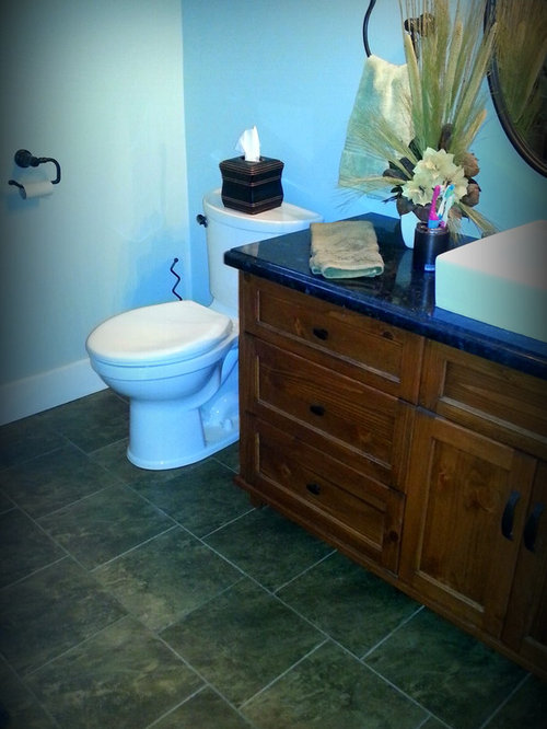 Country blue bathroom design ideas renovations photos for Bathroom decor and tiles midland