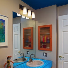 Eclectic Bathroom by Wright Street Design Group Inc.