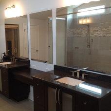 Modern Bathroom by Mark Johnson Custom Homes