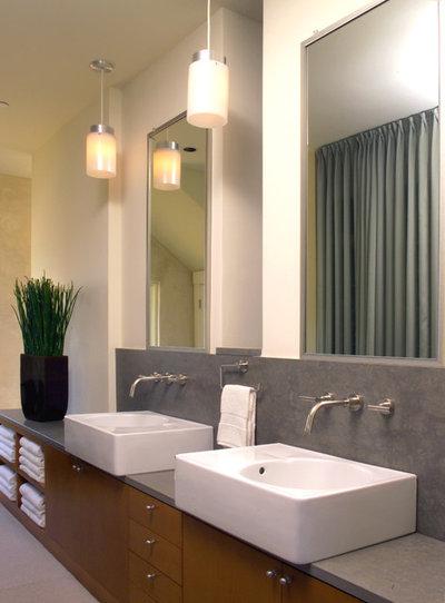 Fancy Contemporary Bathroom by Sutton Suzuki Architects