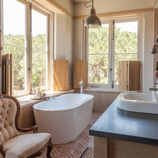 Transitional Bathroom by Wynand Wilsenach Architects