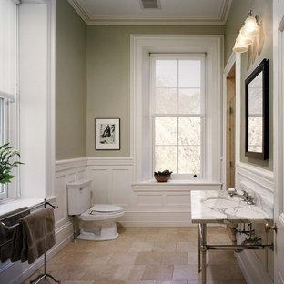 Bathroom - traditional bathroom idea in Philadelphia with a console sink