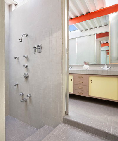 Midcentury Bathroom by Sabrina Huang Photography + Video Production