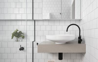 8 stilede badeværelser – sådan indretter du med sorte vandhaner