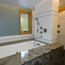 Modern Bathroom by Bennion Construction & Carpentry