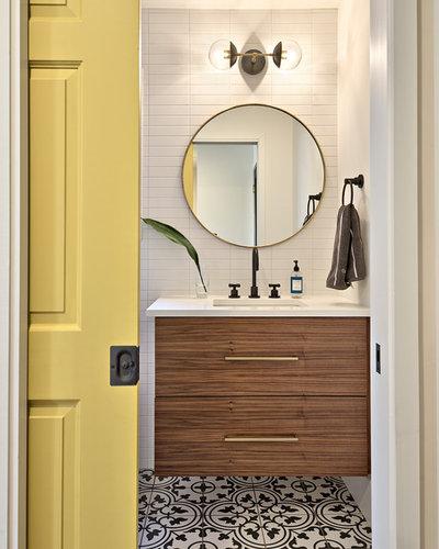 Bathroom Mirror Zones chaos-free zone: how to keep the bathroom organized
