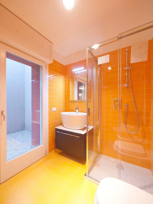 Color Yellow Bathroom Design Ideas Renovations Photos