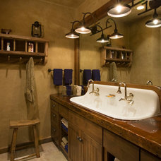 Rustic Bathroom by Locati Architects