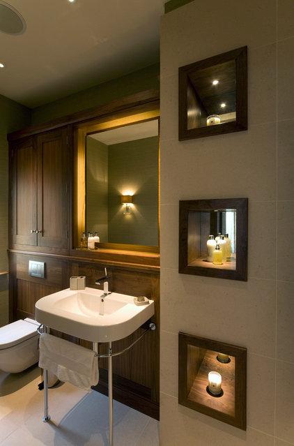 Transitional Bathroom by Brilliant Lighting
