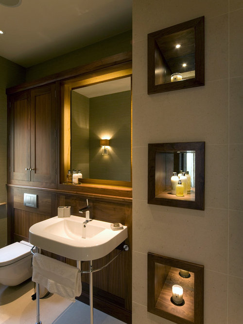 Houzz Recessed Lighting Inspiration For A Transitional Beige Tile Bathroom Remodel In Other With Shaker Cabinets Dark Wood Houzz Recessed Lighting T