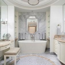 Transitional Bathroom by PRINCIPLES DESIGN STUDIO INC
