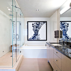 Contemporary Bathroom by Shelley Kirsch Interior Design and Decoration