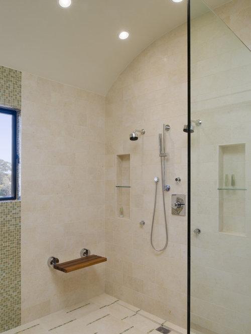 Ipe Fold Down Shower Bench Houzz
