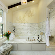 mediterranean bathroom by Joyce Hoshall Interiors