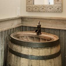 Rustic Bathroom by Jorgenson Builders