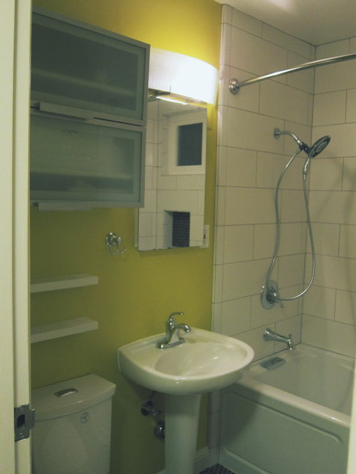 Bathroom Decor With Yellow Walls : Bathroom design ideas renovations photos with black and