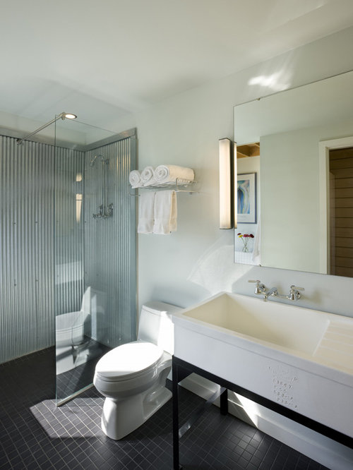 Corrugated Metal Shower Ideas, Pictures, Remodel and Decor