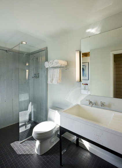 Farmhouse Bathroom by DeForest Architects