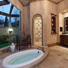 Mediterranean Bathroom by Zachary Custom Homes