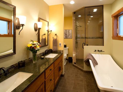 Transitional Bathroom by Bon Brise Design, Inc.