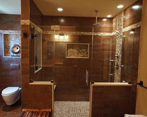 Piano Bagno In Ardesia : Stanza da bagno etnica con pavimento in ardesia foto idee