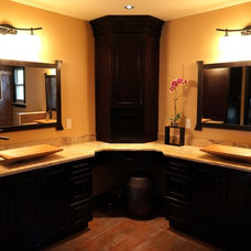 Asian Bathroom by StoneMar Natural Stone Company LLC