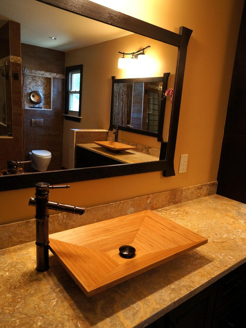 bamboo bathroom sinks bamboo sink houzz 10170