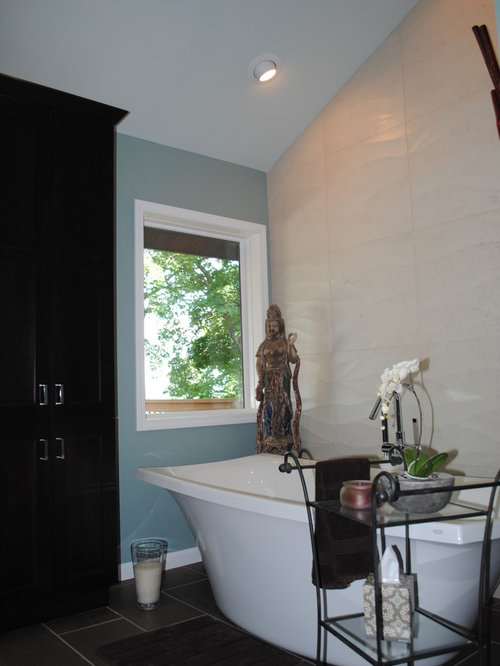 ... Blue Hawk Wood Cabinets By Asian St Louis Bathroom Design Ideas  Remodels Amp Photos ...