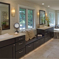 asian bathroom by H. Winter Tile