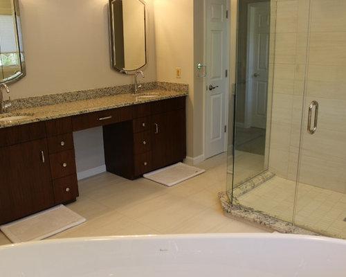 skandinavische badezimmer mit waschtisch aus granit design ideen beispiele f r die badgestaltung. Black Bedroom Furniture Sets. Home Design Ideas
