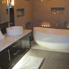 contemporary bathroom by Phyllis Mosher Designs, Inc.