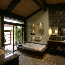 Asian Bathroom by South Bay Design Center