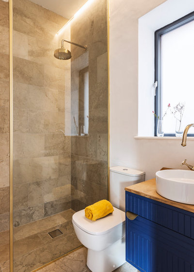 Transitional Bathroom by Ecospheric