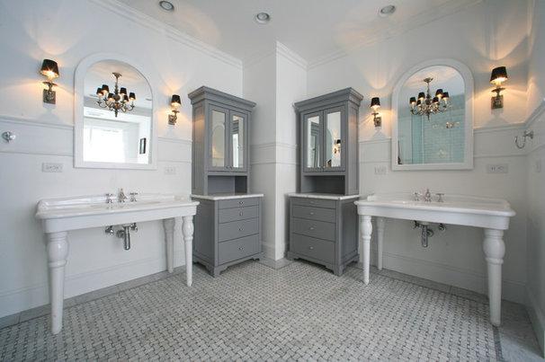 Eclectic Bathroom by Zinn Design Build