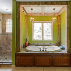 Rustic Bathroom by Stilwell Design & Remodeling