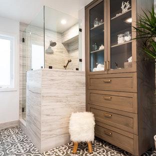 Inspiration for a coastal bathroom remodel in Los Angeles