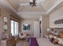 What is the finish on the ceiling wood?  Thank you.