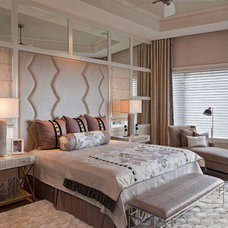 Transitional Bedroom by Kukk Architecture & Design P.A.